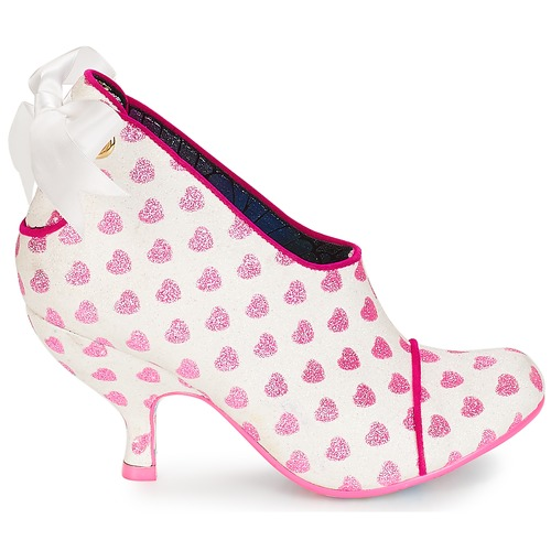 Love is all around Irregular Choice low boots femme blanc / rose