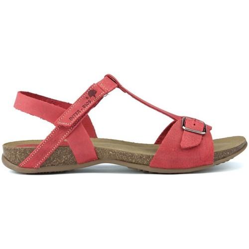Interbios SANDALES  AFRODITE 4462 ROJO - Chaussures Sandale Femme