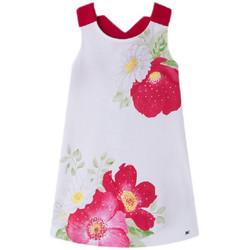 Vêtements Fille Robes Mayoral Robe fleurs et strass Rouge 3994 (rft) Rouge