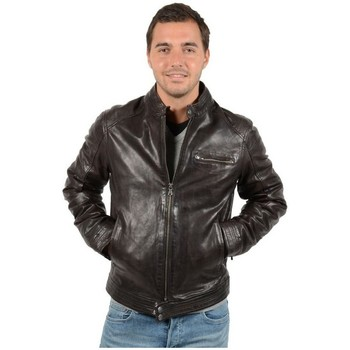 Vêtements Homme Blousons Daytona Blouson cuir  en agneau ref_day32228 Marron Marron