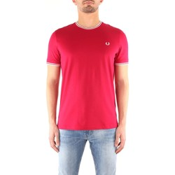 Vêtements Homme T-shirts manches courtes Fred Perry M1588 T-shirt Homme DARK RED DARK RED