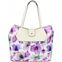 Sacs Femme Cabas / Sacs shopping Eternel Sac cabas Éternel blanc fleurs violettes Violet