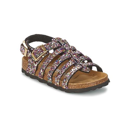 Chaussures Fille Sandales et Nu-pieds Betula Original Betula Fussbett LEONA Rose / Multicolore