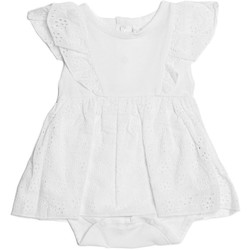Vêtements Fille Robes Guess Robe barboteuse manches dentelle Blanc S82G00 Blanc
