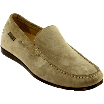 Chaussures Homme Mocassins Mephisto ALGORAS Taupe Velours