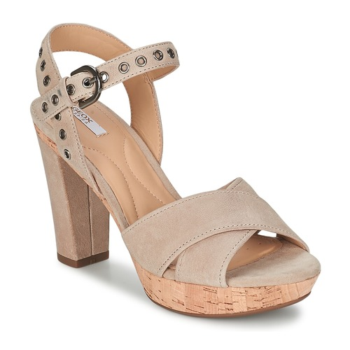 Chaussures Femme Sandales et Nu-pieds Geox HERITAGE A Taupe