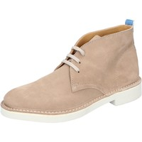 Chaussures Homme Boots Moma bottines beige daim BY772 beige