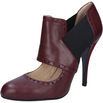 Chaussures Femme Escarpins Gianni Marra MARRA bottines bordeaux cuir textile BY795 rouge