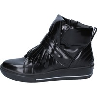 Chaussures Femme Baskets montantes Albano chaussures femme  sneakers noir cuir brillant BY885 noir