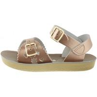 Chaussures Sandales et Nu-pieds Salt Water Sandales  en cuir uni Rose