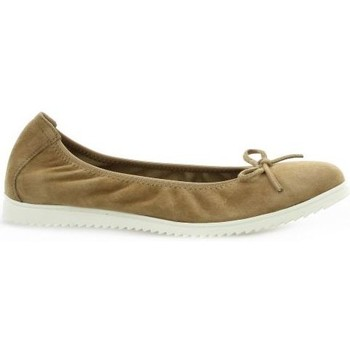 Chaussures Femme Ballerines / babies Latina Ballerines cuir velours Camel