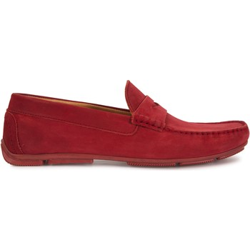 Chaussures Homme Mocassins Heyraud Driver GREGORY Rouge