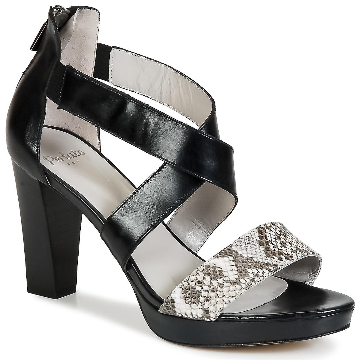 Sandale Perlato IREGUA Noir / Python