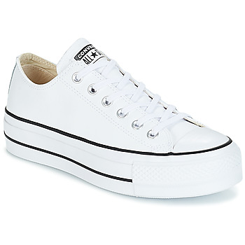 Chaussures Femme Baskets basses Converse CHUCK TAYLOR ALL STAR LIFT CLEAN LEATHER OX Blanc