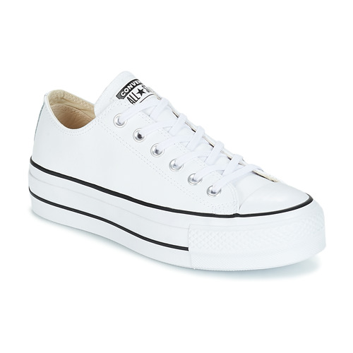 converse baskets en cuir all star leather ox femme