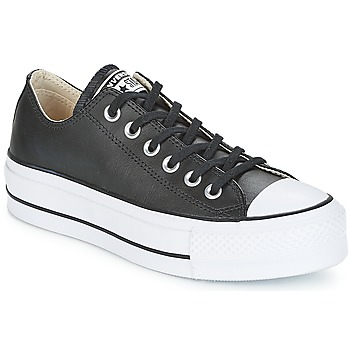 Chaussures Femme Baskets basses Converse CHUCK TAYLOR ALL STAR LIFT CLEAN LEATHER OX Noir / Blanc