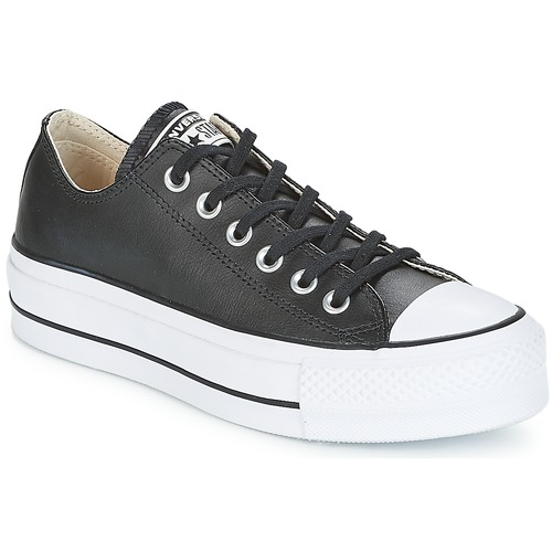 1621914f9edad Chaussures Femme Baskets basses Converse CHUCK TAYLOR ALL STAR LIFT CLEAN  OX Noir   Blanc