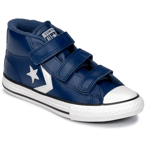 ecab241197b1 Chaussures Enfant Baskets montantes Converse STAR PLAYER 3V MID Navy Mason  Blue Vintage White