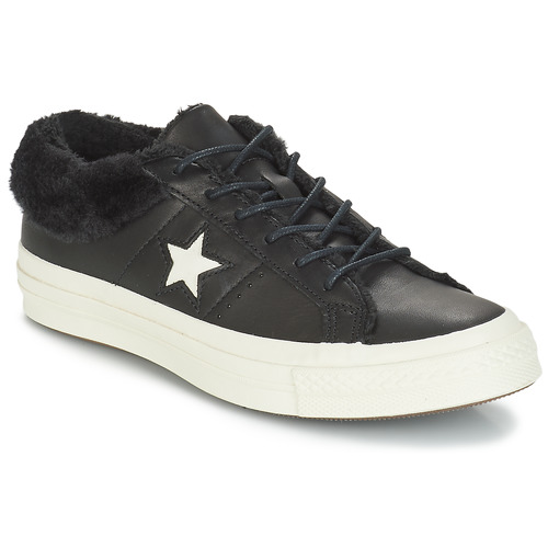 Chaussures Femme Baskets basses Converse ONE STAR LEATHER OX Noir