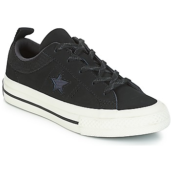 Chaussures Enfant Baskets basses Converse ONE STAR NUBUCK OX Noir / Blanc