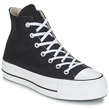 Chaussures Femme Baskets montantes Converse CHUCK TAYLOR ALL STAR LIFT  CANVAS HI Noir 2b2e4fc37a6