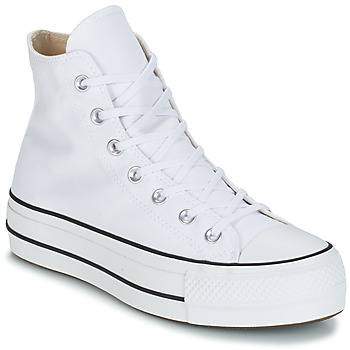 Chaussures Femme Baskets montantes Converse CHUCK TAYLOR ALL STAR LIFT CANVAS HI Blanc