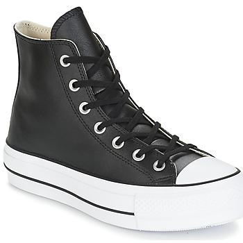 Chaussures Femme Baskets montantes Converse CHUCK TAYLOR ALL STAR LIFT CLEAN LEATHER HI Noir