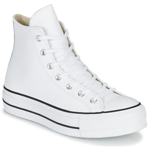 All Leather Star Hi Taylor Converse Baskets Clean Chuck Montantes Femme Blanc Lift UMVSqpz