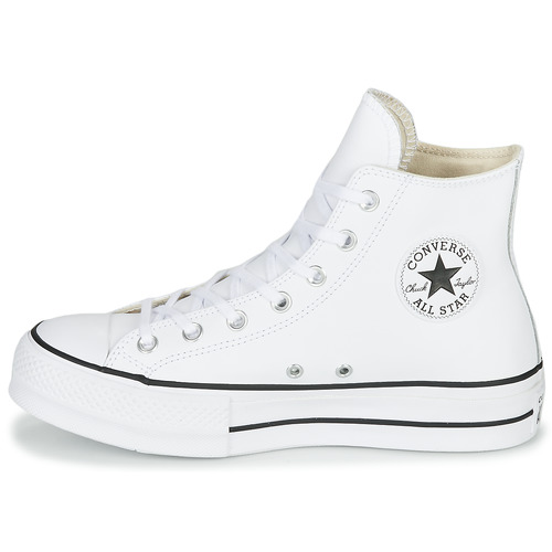 Baskets Lift Chuck Star Taylor Converse Femme Leather Montantes Blanc All Hi Clean HY2IeWED9