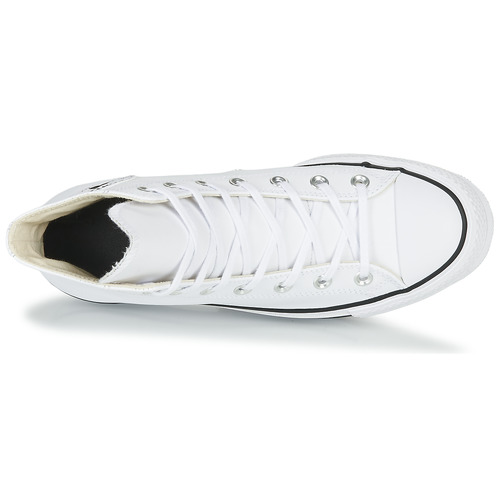 Femme Taylor Montantes All Leather Star Blanc Clean Hi Chuck Lift Converse Baskets xCBoeWQrd