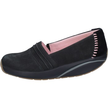 Chaussures Femme Mocassins Mbt slip on mocassins noir nabuk daim BY973 noir