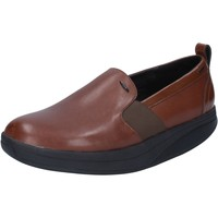 Chaussures Femme Slip ons Mbt chaussures femme  slip on mocassins marron cuir BY975 marron