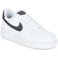 Chaussures Femme Baskets basses Nike AIR FORCE 1'07 W Blanc / Noir