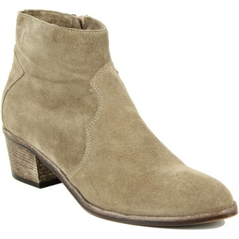 Chaussures Femme Boots Progetto tiags beige Marron