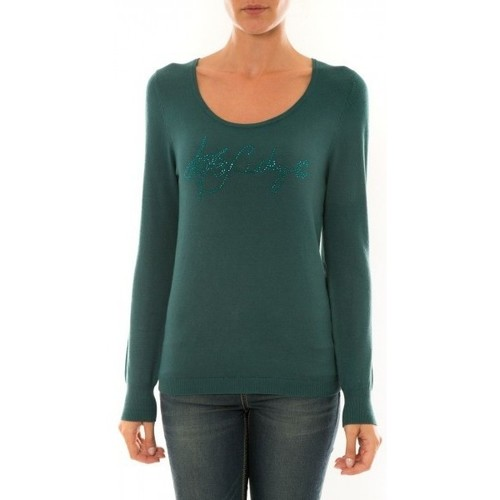 Vêtements Femme T-shirts manches longues Les Petites Bombes les-p-tites-bombes L P B Pull STRASS émeraude