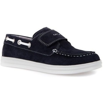 Chaussures Fille Baskets basses Geox Bateaux J Anthor B.F Marine Multicolor