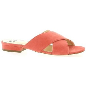 Chaussures Femme Mules Pao Mules cuir velours Rose