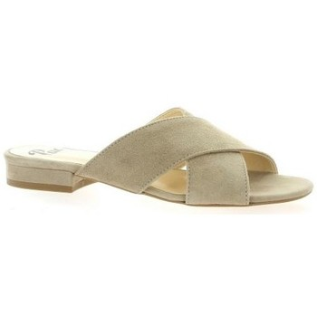 Chaussures Femme Mules Pao Mules cuir velours Taupe