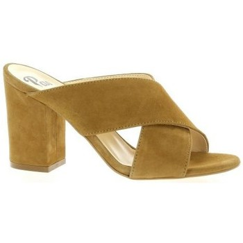 Chaussures Femme Mules Pao Mules cuir velours Cognac