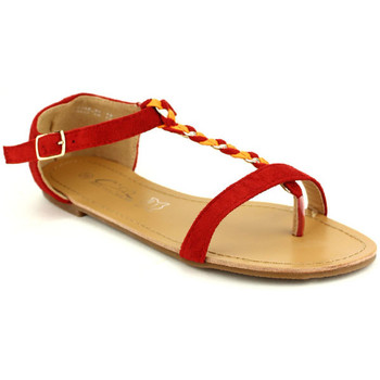 Chaussures Femme Sandales et Nu-pieds Cendriyon Tongs Rouge Chaussures Femme, Rouge