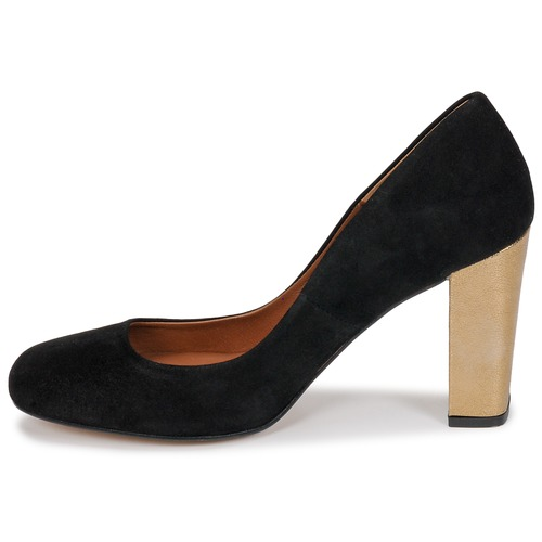 Escarpins Femme Jifolu Chaussures London Betty NoirDoré qjpUMzLSVG