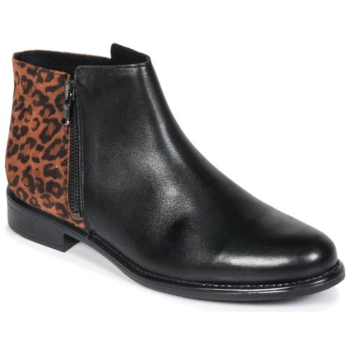 London Jinane Femme Betty NoirMarron Boots rCBhxtdQs