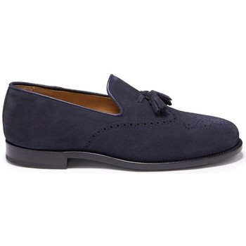 Chaussures Homme Mocassins Hugs & Co. Mocassins Brogue daim Bleu marine
