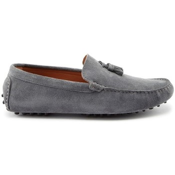Chaussures Homme Mocassins Hugs & Co. Mocassins à pompons daim Gris