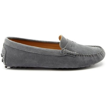 Chaussures Femme Mocassins Hugs & Co. Mocassins penny daim Gris