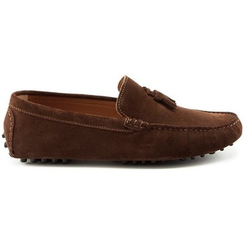 Chaussures Homme Mocassins Hugs & Co. Mocassins à pompons daim Marron