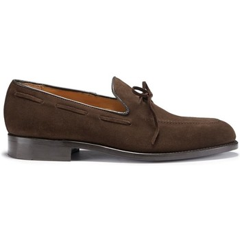 Chaussures Homme Mocassins Hugs & Co. Mocassins à lacets en daim semelle en cuir Marron