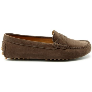Chaussures Femme Mocassins Hugs & Co. Mocassins penny daim Marron