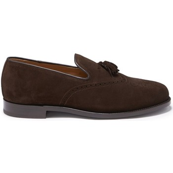 Chaussures Homme Mocassins Hugs & Co. Mocassins Brogue daim Marron
