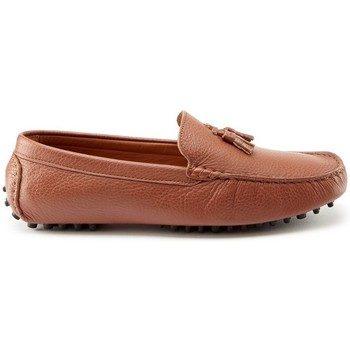 Chaussures Homme Mocassins Hugs & Co. Mocassins à pompons daim Marron clair